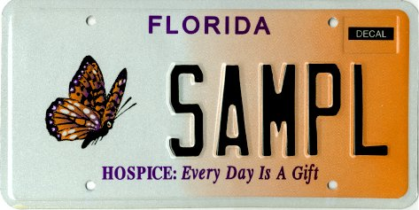 Hospice: Every Day Is A Gift Florida plate