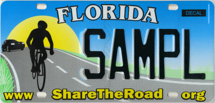 share the road Florida license plate