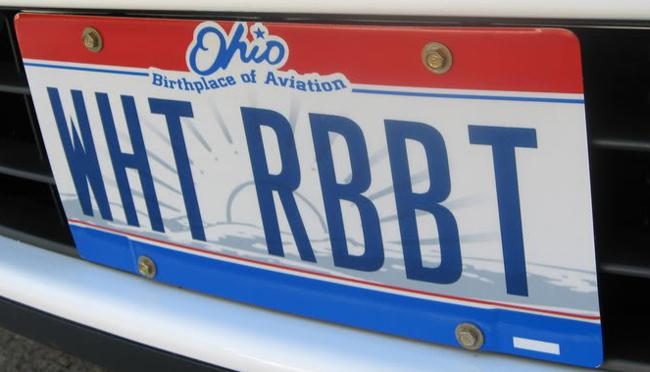 Ohio plate White Rabbit