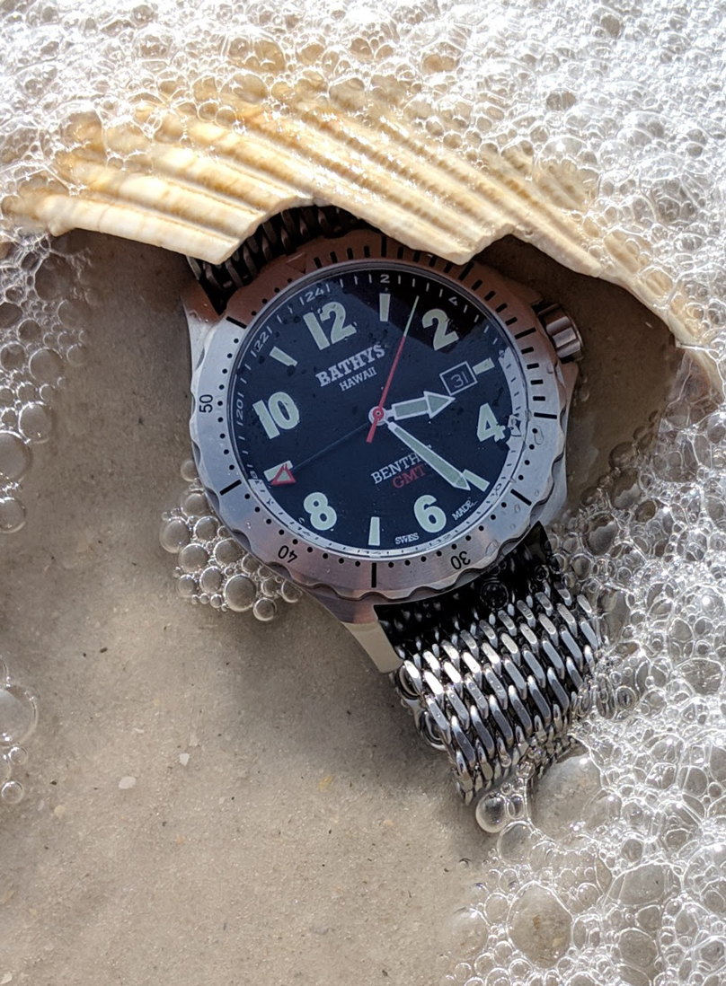 Titanium CarboNitride-plated quartz-movement Bathys Benthic GMT