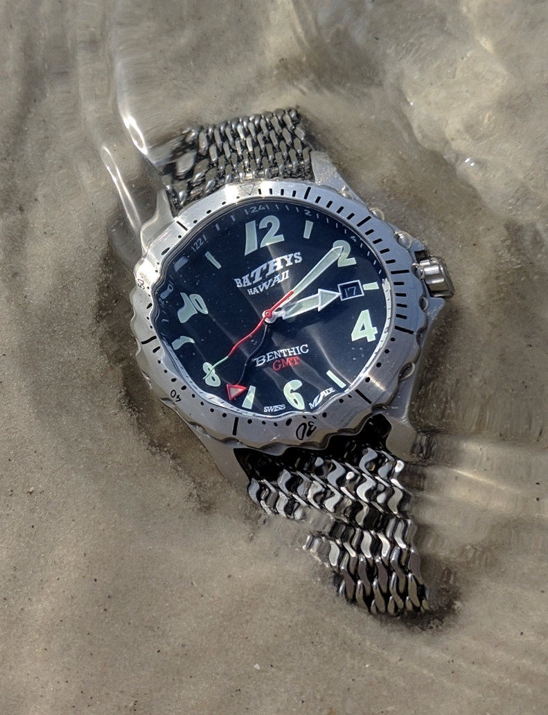 Bathys Benthic GMT Florida beach saltwater