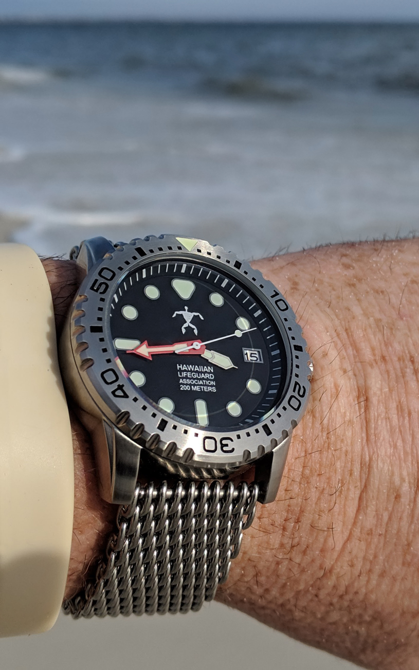 Hawaiian Lifeguard Association wristwatch