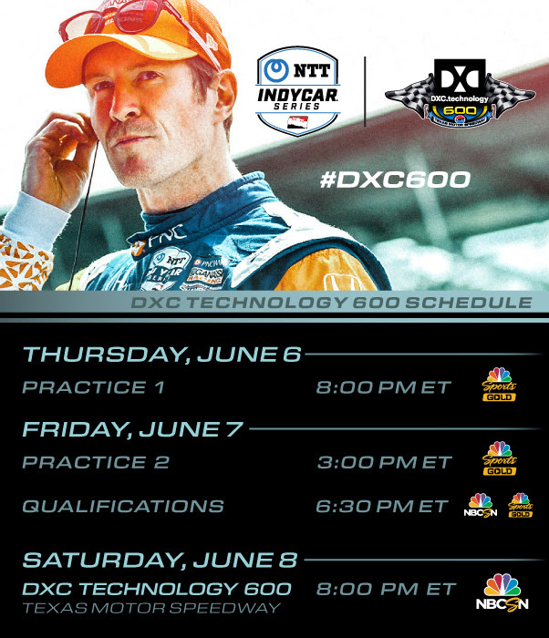 IndyCar race on Saturday night in Texas