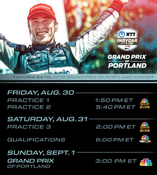 IndyCar race in Portland, Oregon, U.S.A.