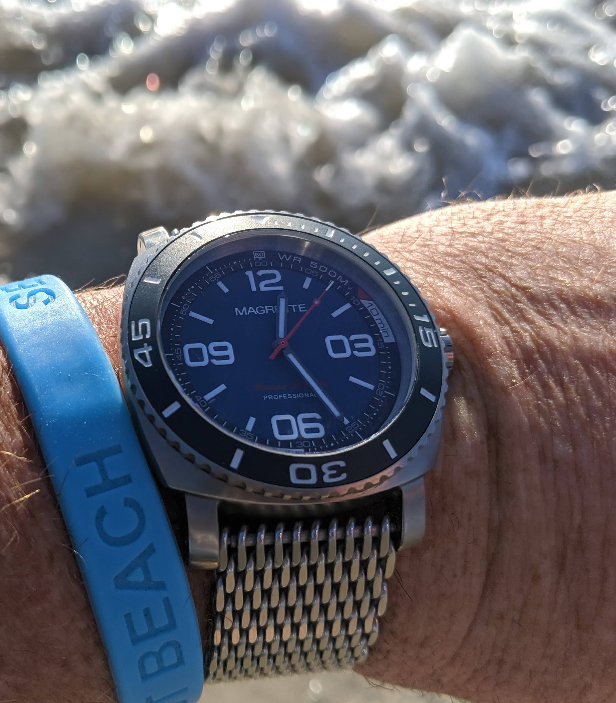 Magrette Moana Pacific Professional Kara titanium watch