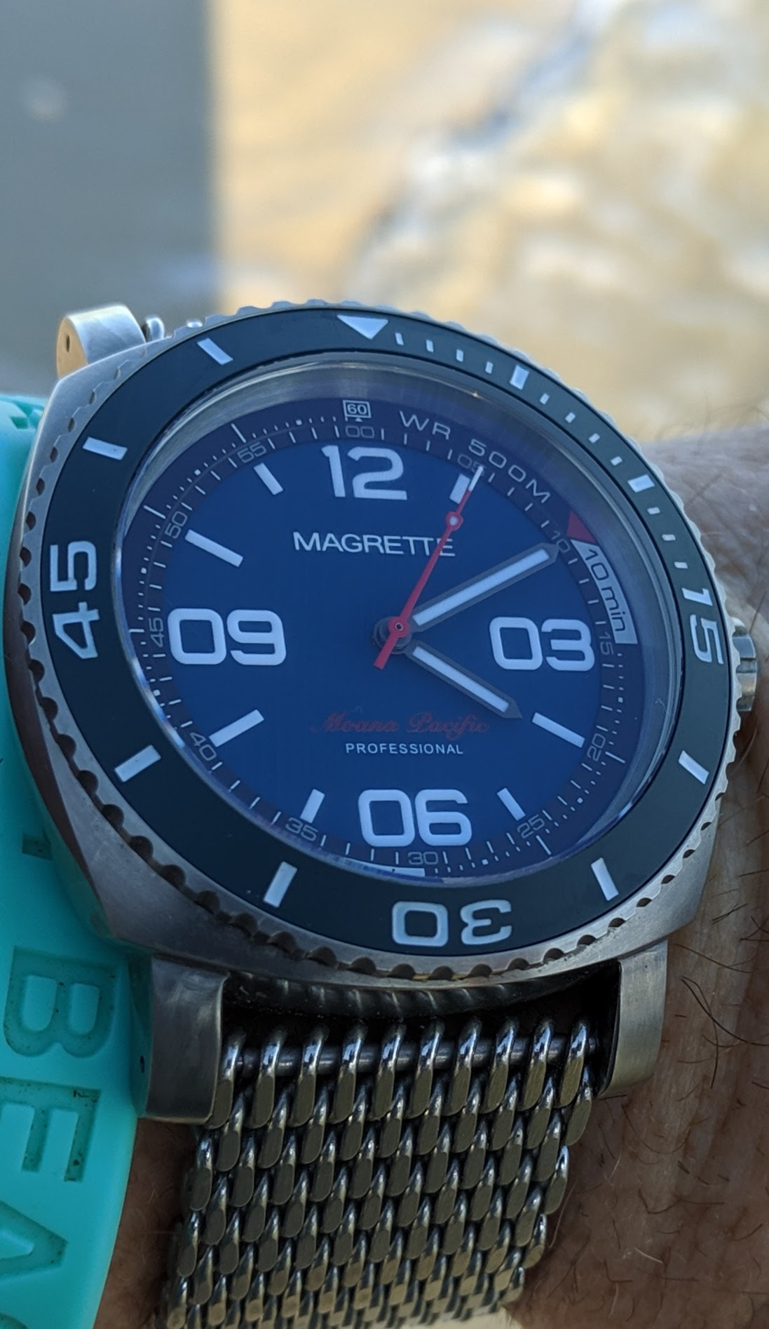 Magrette Moana Pacific Professional Kara edition watch at beach